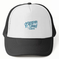 Hope A Faith Teal Ovarian Cancer Awareness Trucker Hat