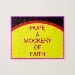 HOPE A MOCKERY OF FAITH The MUSEUM Zazzle Gifts Puzzle