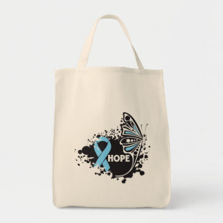 Hope Addison's Disease Butterfly Grocery Tote Bag