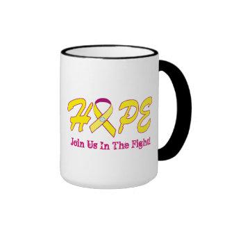 HOPE (All  ItemsCancer)-Gift Ringer Coffee Mug