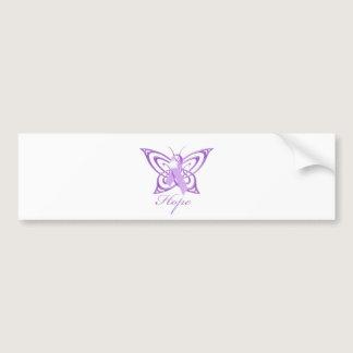 Hope Alzheimer's Awareness Butterfly Bumper Sticker