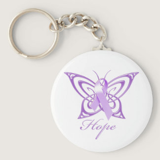 Hope Alzheimer's Awareness Butterfly Keychain