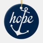 Hope Anchors The Soul (Hebrews 6:19) Ceramic Ornament