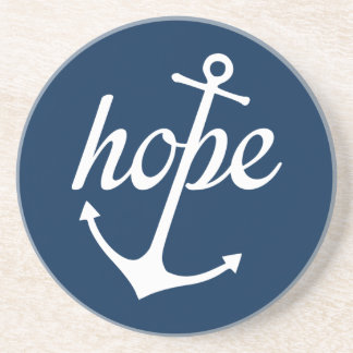 Hope Anchors The Soul (Hebrews 6:19) Sandstone Coaster