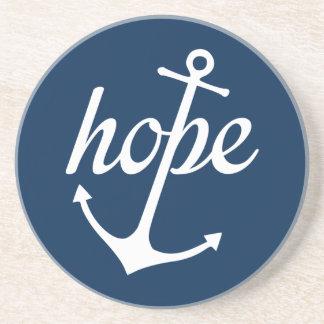 Hope Anchors The Soul (Hebrews 6:19) Sandstone Coaster