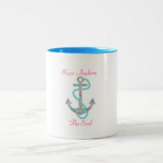 Hope Anchors the Soul Two-Tone Coffee Mug