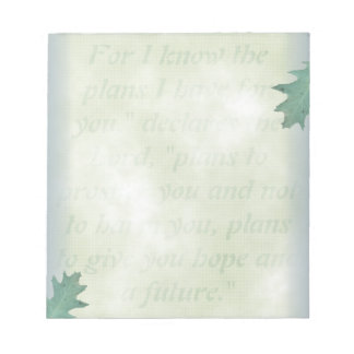 Hope and A Future, Christian Note Paper Notepad