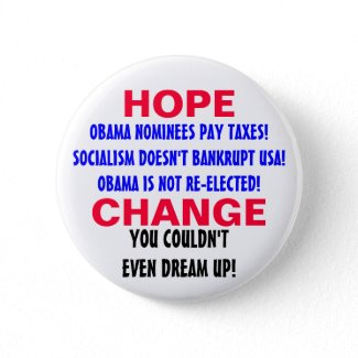 HOPE AND CHANGE! button