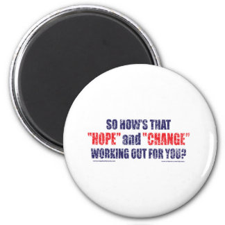 HOPE-and-Change-DST-TEE 2 Inch Round Magnet