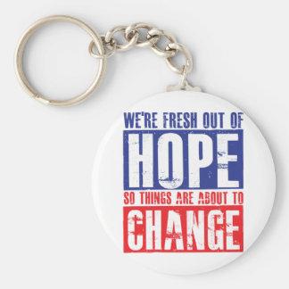 Hope and Change Keychain