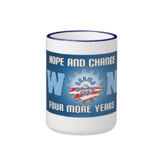 Hope And Change Won Four More Years Ringer Mug