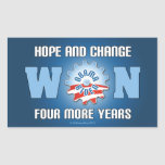 Hope And Change Won Four More Years Rectangular Sticker