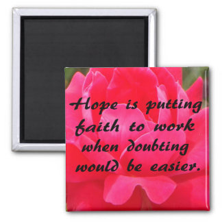Hope and Faith 2 Inch Square Magnet