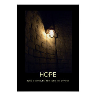 Hope and faith demotivational poster