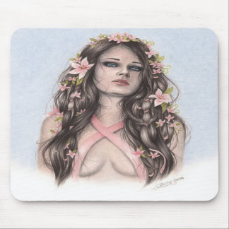 Hope and Flowers Breast Cancer Awareness Mousepad