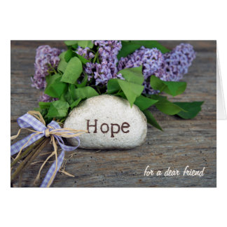 hope and lilacs card