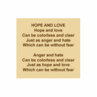 Hope And Love Poem by Kristie Hubler on Brooch Pin Photo Cutouts