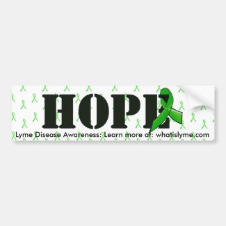 Hope and Lyme Disease Awareness Ribbon Bumper Sticker