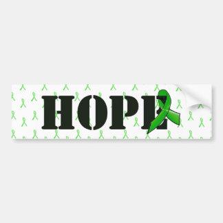 Hope and Lyme Disease Awareness Ribbon Bumper Sticker