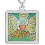 Hope Angel Art Pendant Necklace