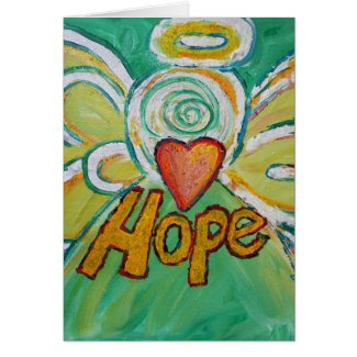 Hope Angel Greeting Card