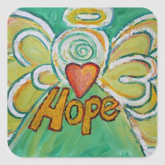 Hope Angel Inspirational Word Art Decal Stickers