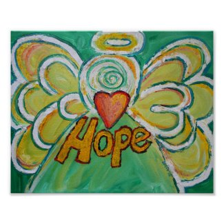 Hope Angel Inspirational Word Art Print Poster