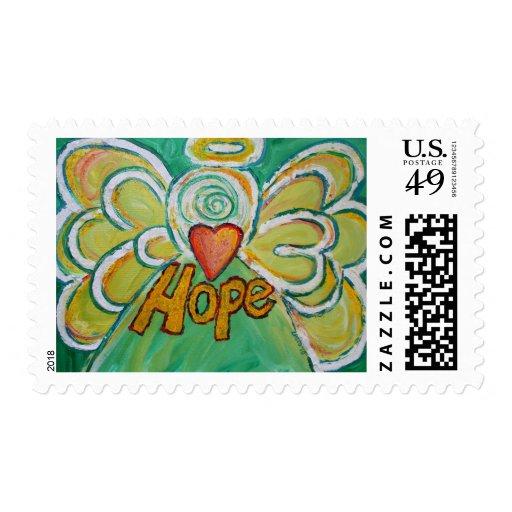 Hope Angel Postage Stamp