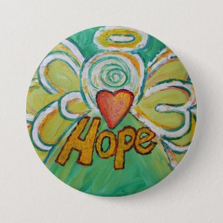 Hope Angel Word Art Lapel Pin Pendant Buttons
