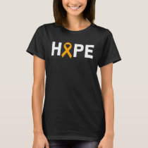 Hope Appendix Cancer Awareness Zodiac Ribbon Suppo T-Shirt