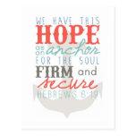 Hope as an Anchor postcard
