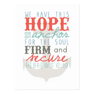 Hope as an Anchor postcard