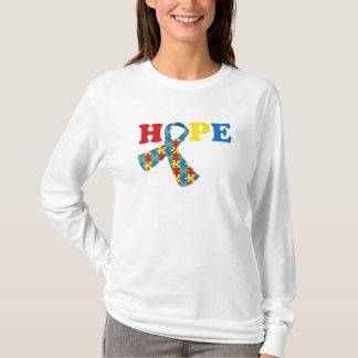 HOPE Autism Awareness with Ribbon T-Shirt