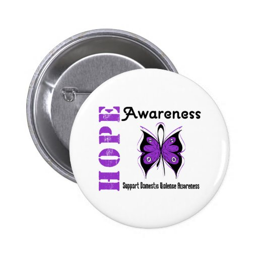Hope Awareness Butterfly Domestic Violence Pins