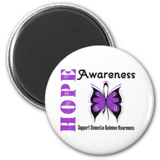 Hope Awareness Butterfly Domestic Violence Magnet