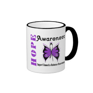 Hope Awareness Butterfly Domestic Violence Mugs