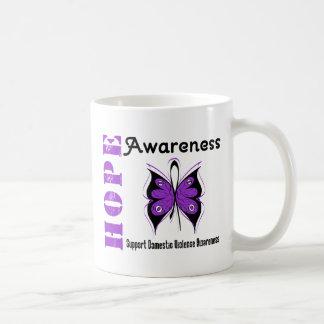 Hope Awareness Butterfly Domestic Violence Mug