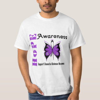 Hope Awareness Butterfly Domestic Violence Shirt