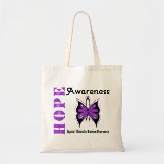 Hope Awareness Butterfly Domestic Violence Tote Bag