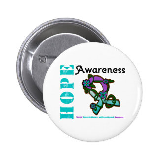 Hope Awareness Domestic Violence & Sexual Assault Pinback Button