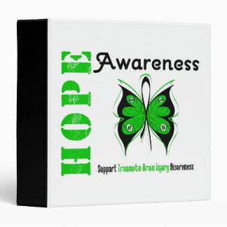Hope Awareness Traumatic Brain Injury Vinyl Binder