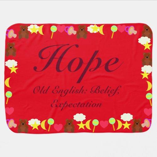 Hope Baby Blanket Template