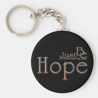 Hope Basic Round Button Keychain