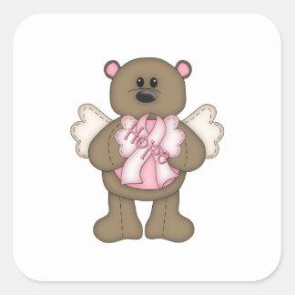 Hope Bear Square Sticker
