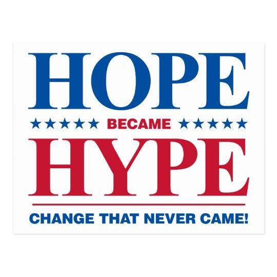 Hope Became Hype Postcard