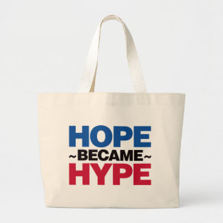 Hope Became Hype - Red and Blue Large Tote Bag