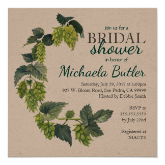 Hope, Beer Wedding Shower Card