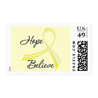 Hope Believe Brush Ribbon Sarcoma Postage