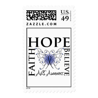 Hope Believe Faith - ALS Lou Gehrigs Disease Stamp