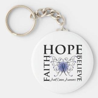 Hope Believe Faith - Anal Cancer Basic Round Button Keychain